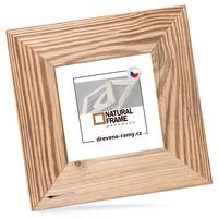 Rámeček dřevěný na fotky 15x15 cm, NATURAL-FRAME