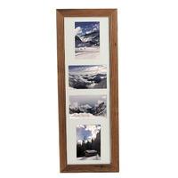 Dřevěný rám Four Antik 21x60 cm / 4 foto 10x15 cm