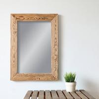 Zrcadlo v masivní dřevěném rámu 40x60 cm, NATURAL-FRAME