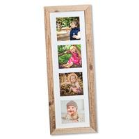 Dřevěný rámeček na 4 foto 12 x 12 cm, NATURAL-FRAME