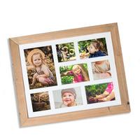 Dřevěný rám 8 fotografií, NATURAL-FRAME