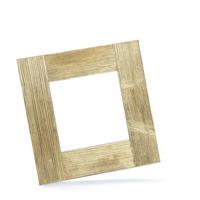 Dřevěný rám color zlatá 20x20 cm