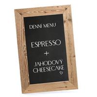 Dřevěná menu tabule 40x60 cm