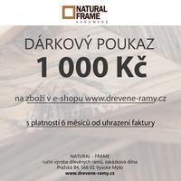 Dárkový poukaz na 1 000 Kč
