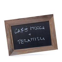 Dřevěná menu tabule 24x28 cm