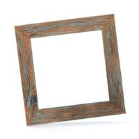Dřevěný rám color holubí modř 32x32 cm