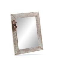 Bílý dřevěný rám zrcadlo bílá 30x40 cm, NATURAL-FRAME