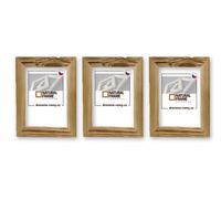 Sada 3 ks dřevěných fotorámečků 13x18 cm