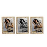Sada 3 ks dřevěných fotorámečků 10x15 cm, NATURAL-FRAME