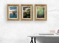 Sada 3 ks dřevěný rám na fotku A4 (21x29.7), NATURAL-FRAME